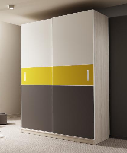 Шкаф-купе НОВА 2-х дверный Нарцисс
